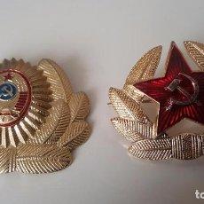 Militaria: EMBLEMAS DE GORRA DEL EJERCITO SOVIETICO, . Lote 84189156