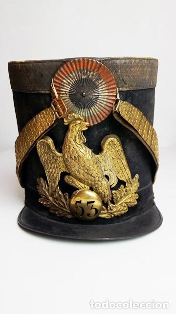 Militaria: Shakó de oficial de infantería de línea modelo 1830, Francia. - Foto 2 - 85699940