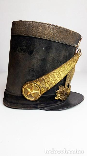 Militaria: Shakó de oficial de infantería de línea modelo 1830, Francia. - Foto 5 - 85699940