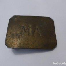 Militaria: * ANTIGUA HEBILLA DE MA REPUBLICANA, ORIGINAL. GUERRA CIVIL. ZX. Lote 85720080