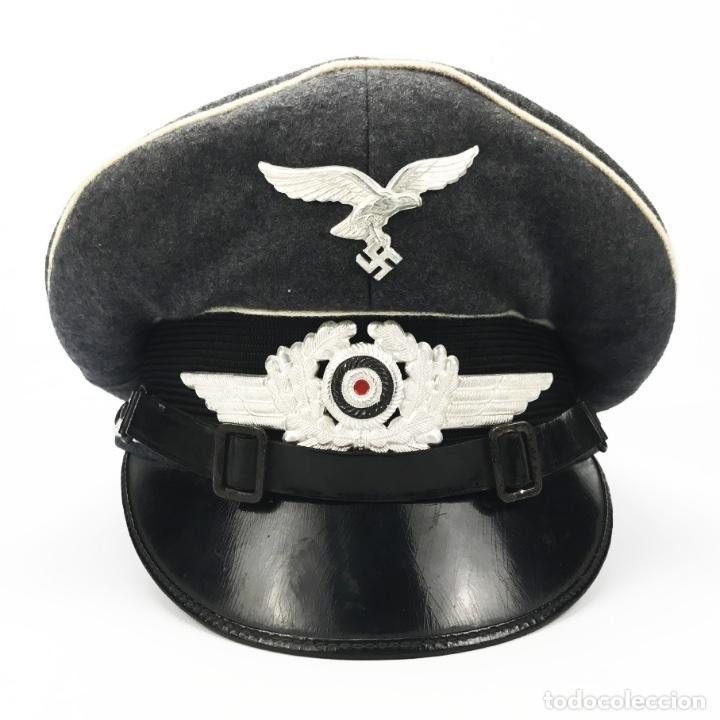 Militaria: Gorra de suboficial de la División Hermann Göring. Segunda Guerra Mundial. Tercer Reich. - Foto 4 - 89195076