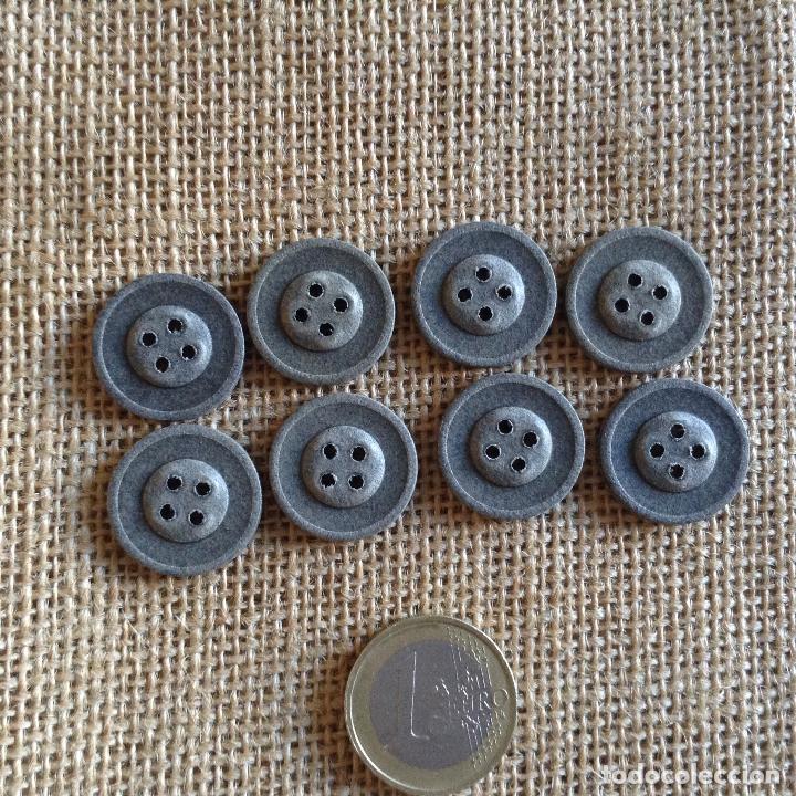 Militaria: Botones alemanes para guerrera de papel prensado finales de guerra - Foto 2 - 89469416