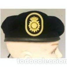 Militaria: ESTUPENDA BOINA NEGRA TEDAX ESCALA EJECUTIVA POLICIA NACIONAL TALLAS 54 A LA 60 INCLUYE PARCHE. Lote 89782180