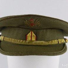 Militaria: ANTIGUA GORRA DE PLATO, BRIGADA DE LA ÉPOCA DE FRANCO, FABRICADA POR SEPULVEDA, MADRID, MIDE DE PERI. Lote 91797590