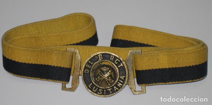 CINTURÓN REGIMIENTO CABALLERÍA LUSITANIA 8 (Militar - Cinturones y Hebillas )