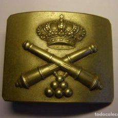 Militaria: HEBILLA DE CINTURÓN ALFONSINA, DE ARTILLERIA, DE GRAN TAMAÑO Y RELIEVE.. Lote 92703355