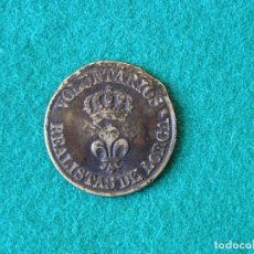 Militaria: BOTÓN UNIFORME VOLUNTARIOS REALISTAS DE LORCA - 1823-1833. Lote 93124360