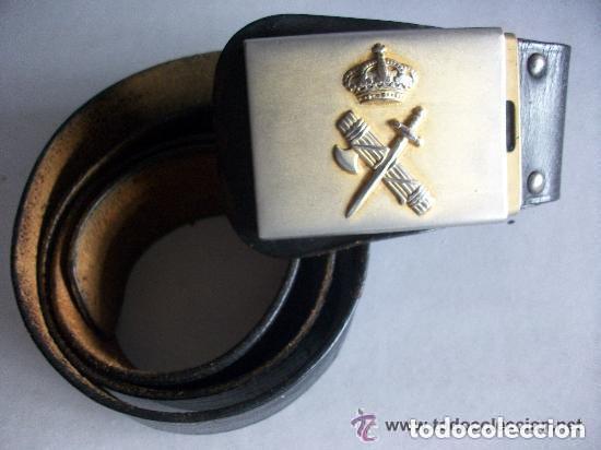 CEÑIDOR DE LA GUARDIA CIVIL . MODELO DE HEBILLA ANCHA (Militar - Cinturones y Hebillas )
