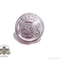 Militaria: BOTÓN CUERPO DE SEGURIDAD ALFONSO XIII 2,2 CM. Lote 93714205