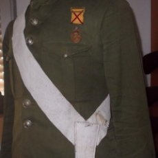 Militaria: RARO TAHALÍ CON BANDOLERA, BLANCO, ALFONSO XIII. Lote 94106600
