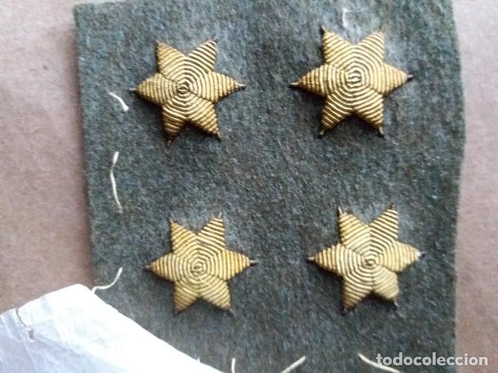 Militaria: LOTE CUATRO ESTRELLAS UNIFORME MILITAR BORDADAS ANTIGUAS - Foto 2 - 94268380