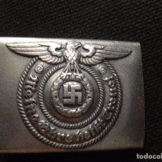 Militaria: HEBILLA ALEMANA WAFFEN SS REPLICA DE CALIDAD CON MARCAJE DE ALUMINIO.. Lote 98803580