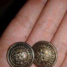 Militaria - Dos botones de Caminos Canales y Puertos 2 cm de diámetro - 95305747
