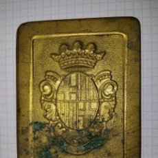 Militaria: CHAPA DE CINTURÓN POLICIA MUNICIPAL, POR TERMINAR. Lote 18797339