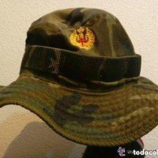Militaria: CHAMBERGO O PAMELA DE CAMPAÑA MIMETIZADA VERDE BOSCOSO , PRACTICAMENTE SIN USAR. Lote 109466910