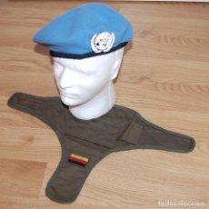 Militaria: BOINA MILITAR DE LA ONU + DISTINTIVO DE BRAZO EJERCITO ALEMAN. Lote 95615951