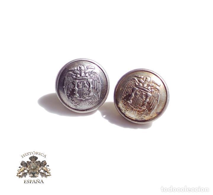 2 BOTONES ÁGUILA IMPERIAL, POLICÍA - ÉPOCA DE FRANCO - 1,6 CM DE DIÁMETRO (Militar - Botones )