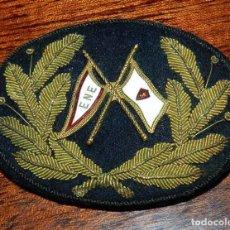 Militaria: GALLETA PARA GORRA DE ENE EMPRESA NAVIERA ELCANO, BORDADA CON HILO DE ORO, MIDE 7,8 X 6 CMS.. Lote 96753999