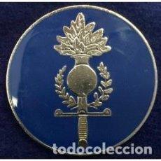 Militaria: EMBLEMA BOINA GUARDIA CIVIL MISISON EUROGENDFOR METAL. Lote 96891727