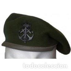Militaria: BOINA VERDE FGNE CON EMBLEMA METÁLICO EN COLOR NEGRO TALLAS DE LA 54 A LA 60. Lote 96892215