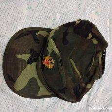Militaria: GORRA FAENA MIMETIZADO WOOLAND TALLA M, AGUILA AMARILLA, VISERA LARGA , EJERCITO ESPAÑOL. Lote 97038156