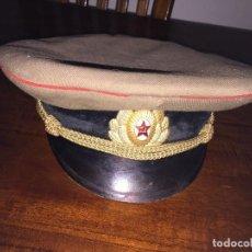 Militaria: GORRA MILITAR DE PLATO EJERCITO RUSO. Lote 97230935