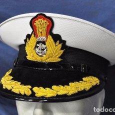 Militaria: INDIA. GORRA DE PLATO DE ALMIRANTE DE LA MARINA INDIA.. Lote 97287983