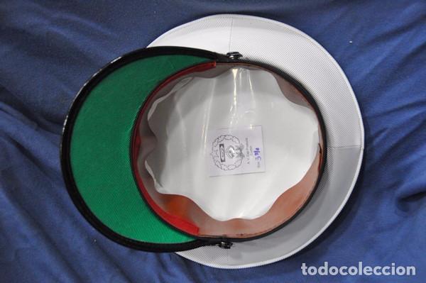 Militaria: India. Gorra de plato de almirante de la Marina India. - Foto 3 - 97287983