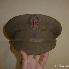 Militaria: ANTIGUA GORRA DE ALFEREZ, MODELO DE VISERA INCLINADA COMO LAS DE DIVISION AZUL. ORIGINAL.. Lote 97527411