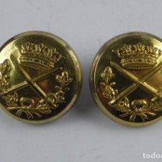 Militaria: 2 BOTONES DE GENERAL, BOTON, MIDEN 2,5 CMS. FABRICADO EN ESPAÑA.. Lote 97893867