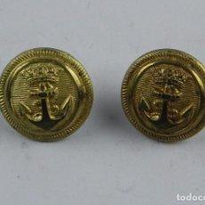 Militaria: 2 BOTONES DE MARINA, FABRICADOS EN ESPAÑA, MIDE 1,5 CM DE DIÁMETRO.. Lote 97894259