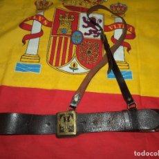 Militaria: CINTURON MILITAR CUERO E. FRANCO. Lote 98702499
