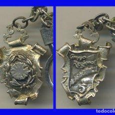 Militaria: COLGANTE LLAVERO PLATEADO CON LAUREADA GRUPO REGIONAL INTENDENCIA 5 MIDE 40/30 MM . Lote 99319739