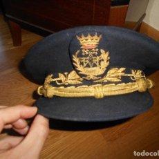 Militaria: GORRA DE PLATO INGENIERO DE TELECOMUNICACIONES INGENIEROS CIVILES AÑOS 60 FRANCO CASA YUSTAS. Lote 99367447