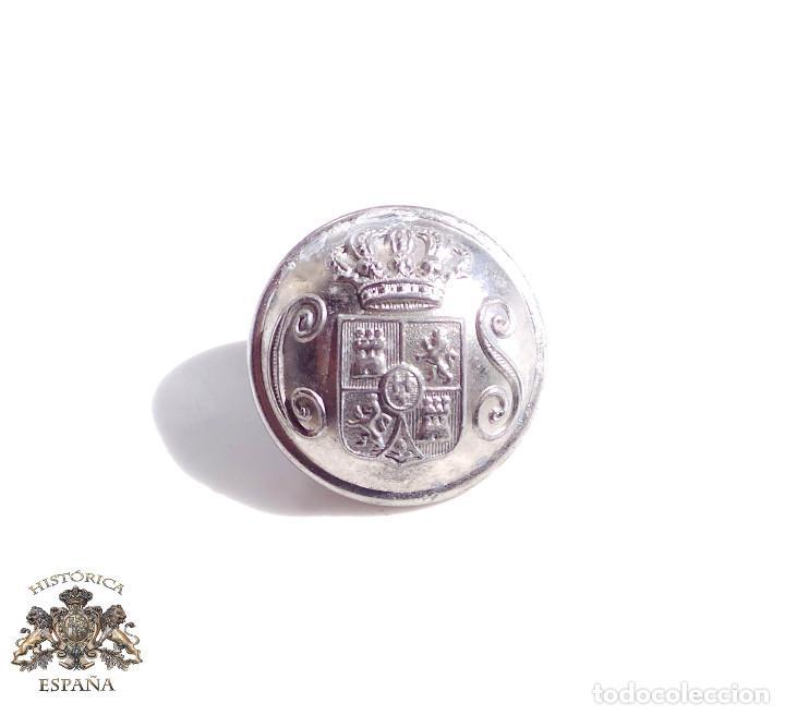 BOTÓN CUERPO SEGURIDAD - ALFONSO XIII - 2,2 CM DE DIÁMETRO (Militar - Botones )