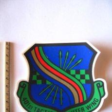 Militaria: ADESIVO USAF, BASE TORREJON, DISUELTA EN 1992, 401 T F WING , PEQUEÑO, BAJA VISIBILIDAD. Lote 216617025