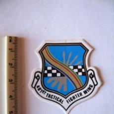 Militaria: ADESIVO USAF, BASE TORREJON, DISUELTA EN 1992, 401 T F WING , MINI, COLORES VIVOS. Lote 216617273