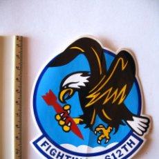 Militaria: ADESIVO USAF, BASE TORREJON, DISUELTA EN 1992, FIGHTING 612 TH, PEQUEÑO, COLORES VIVOS. Lote 216616652