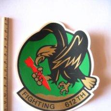 Militaria: ADESIVO USAF, BASE TORREJON, DISUELTA EN 1992, FIGHTING 612 TH, PEQUEÑO, BAJA VISIBILIDAD. Lote 216617110