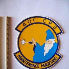 Militaria: ADESIVO USAF, BASE TORREJON, DISUELTA EN 1992, 401 C. R. S. , PEQUEÑO, COLORES VIVOS. Lote 216616477