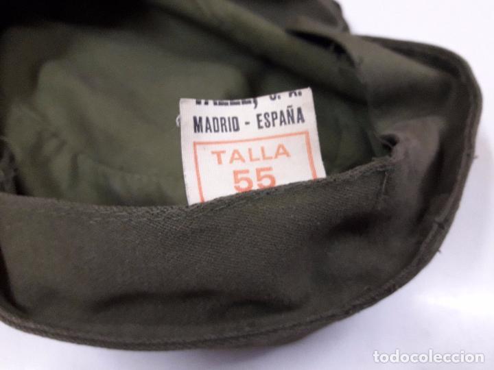 Militaria: GORRA DE FAENA DEL EJERCITO ESPAÑOL . MAUFACTURAS VALLE S.A. - AÑOS 70 - Foto 9 - 99965923