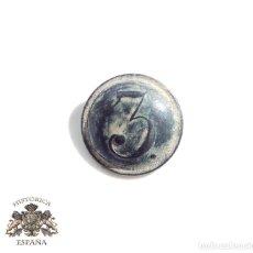 Militaria: BOTÓN FERNANDO VII. 1808 - 1833. BOTÓN REGIMIENTO DE INFANTERÍA Nº 3. Lote 100046199