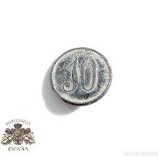 Militaria: BOTÓN ISABEL II. 1833 - 1868 . BOTÓN REGIMIENTO PROVINCIAL Nº 10 . Lote 100046471