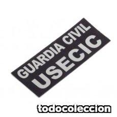 Militaria: REFLECTANTE PARA TRASERA CHALECO GUARDIA CIVIL USECIC 8,5 X 23,5 CON VELCRO. Lote 100074239