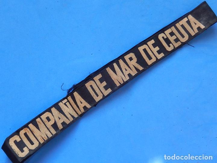 Militaria: Cinta para gorro tipo Lepanto. Compañía de Mar Ceuta. Ejercito de Tierra. - Foto 2 - 100479047