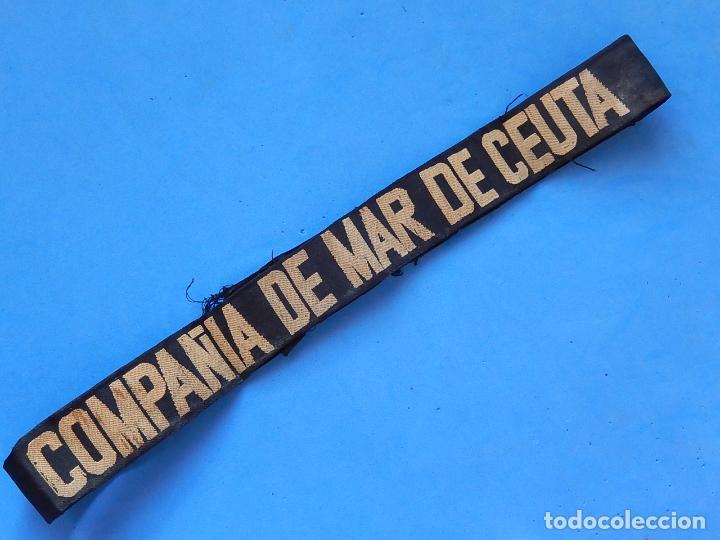 Militaria: Cinta para gorro tipo Lepanto. Compañía de Mar Ceuta. Ejercito de Tierra. - Foto 6 - 100479047