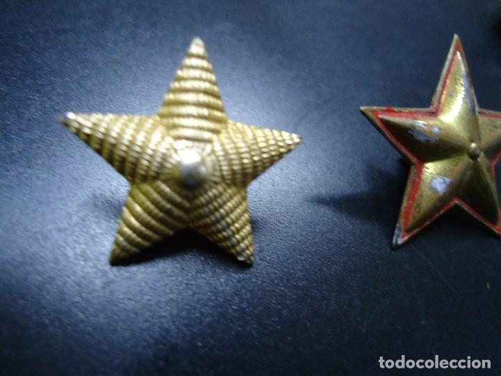 Militaria: de 5 puntas ESTRELLA DE GRADO 5 PUNTAS - 2,5 CM DE DIÁMETRO - Foto 3 - 101468991