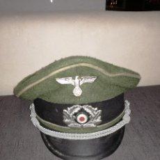 Militaria: GORRA DE PLATO OFICIAL ALEMÁN TALLA 57 DIVISIÓN AZUL. Lote 102471839