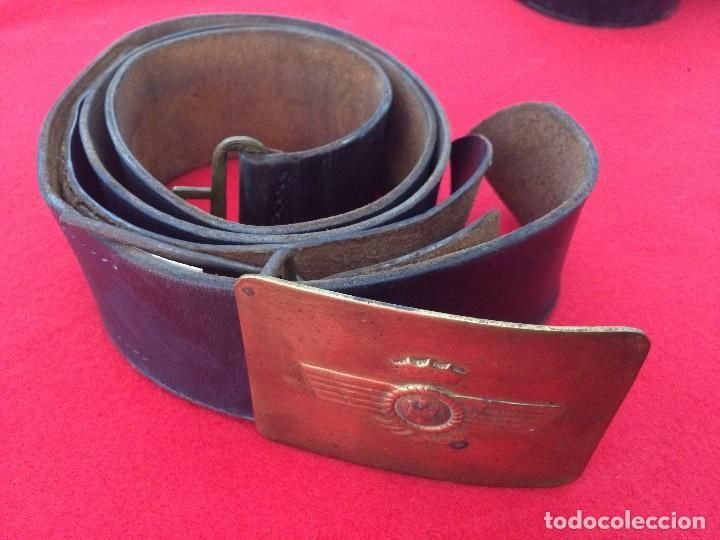 CINTURON DE CUERO CON HEBILLA AVIACION (Militar - Cinturones y Hebillas )