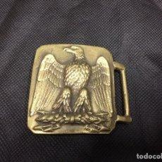 Militaria: HEBILLA DE CINTURON, AGUILA FRANCESA, EPOCA NAPOLEON 1812, EN BRONCE DORADO. Lote 102983895